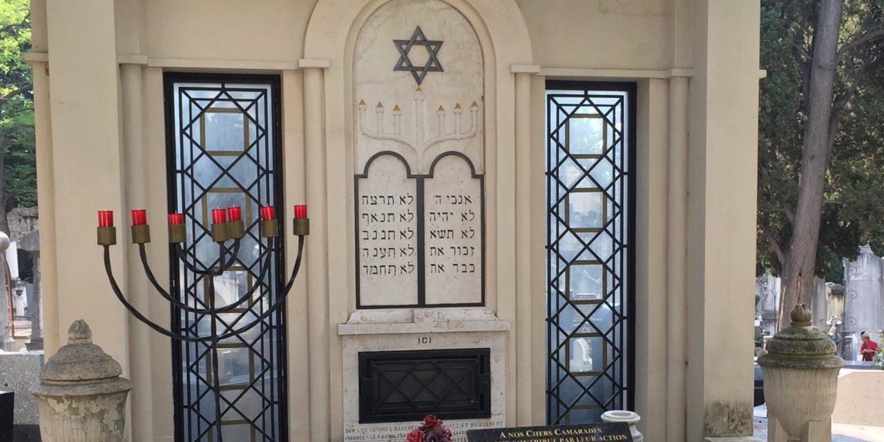CÉRÉMONIE DU 29 SEPTEMBRE 2019 À LA MÉMOIRE DES DÉPORTÉS DISPARUS DANS LES CAMPS DE CONCENTRATION AU CIMETIERE ISRAELITE DE LA TIMONE À MARSEILLE