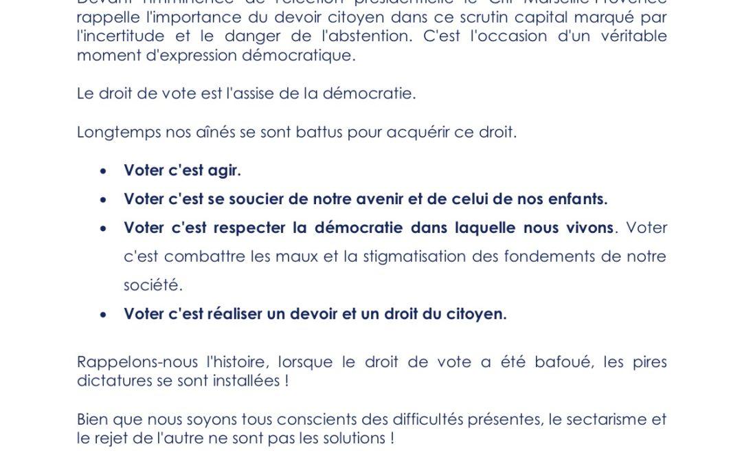 Election Présidentielle: Message de Bruno Benjamin, Président du Crif Marseille-Provence