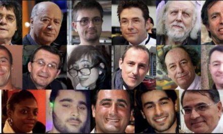 Commémoration des attentats de Paris de janvier 2015 au Rond-Point du Prado (plaque du souvenir)  à Marseille ce Mardi 9 janvier 2018 à 11h30