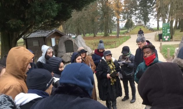 Voyage à Peronne avec les élèves du Lycée Adam de Craponne (Salon de Provence) dans le cadre du Centenaire de la Grande Guerre