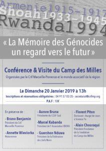 Conférence et visite du Camp des Millles - Dimanche 20 janvier 2019 @ Camp des Milles