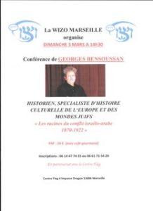 Conférence en présence de Georges Bensoussan