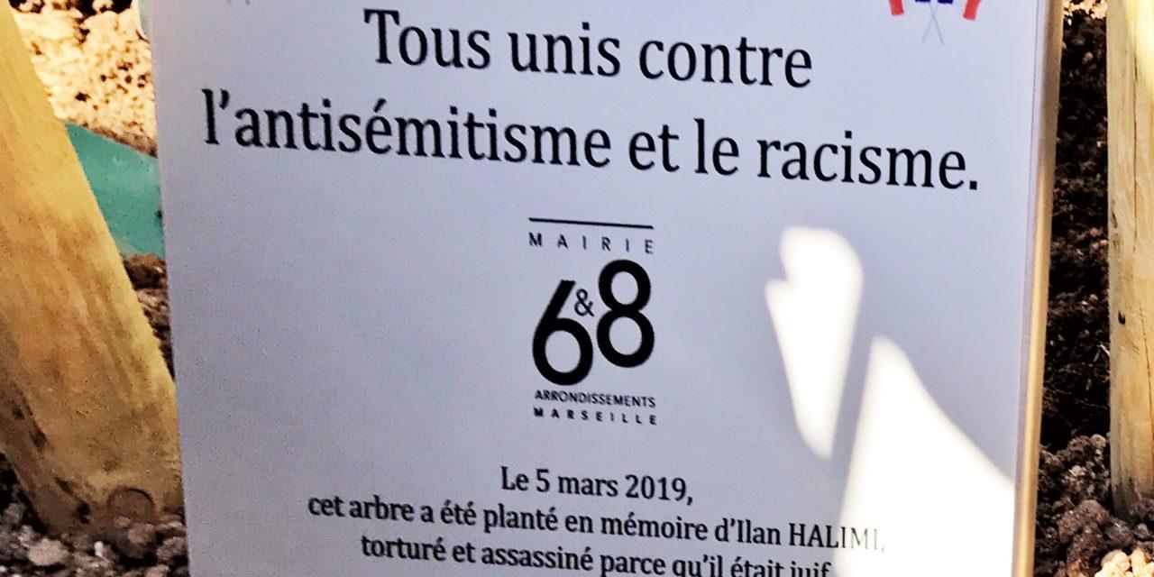 Un arbre pour Ilan Halimi à La Mairie Bagatelle 6/8e arrondissements de Marseille