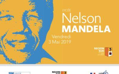 Inauguration du lycée Nelson Mandela à Marseille (13012)