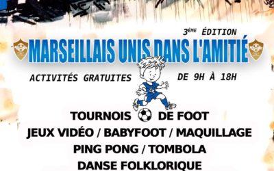 #SaveTheDate POUR LA 3e EDITION de «MARSEILLAIS UNIS DANS L'AMITIÉ» LE 3 NOVEMBRE 2019 à MARSEILLE