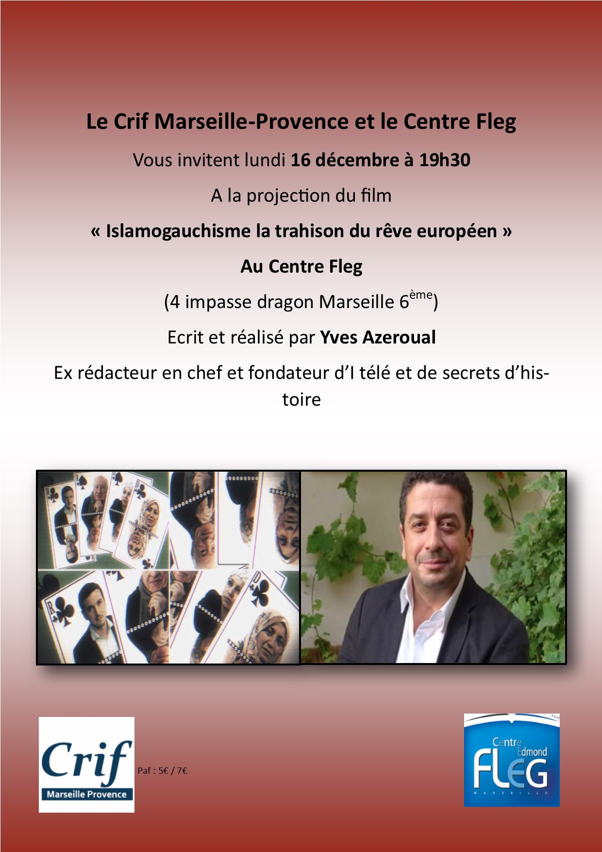 Projection du film de Yves Azeroual @ CENTRE EDMOND FLEG