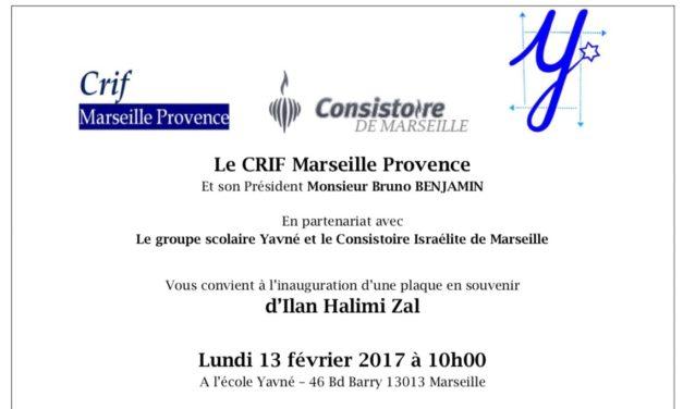 Ilan Halimi «torturé et assassiné en France parce qu'il était juif à l'âge de 23 ans.» : Une plaque en sa mémoire sera devoilée Lundi 13 Fevrier à l'École Yavné à Marseille