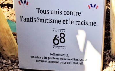Recueillement en hommage à  Ilan Halimi à la Mairie de Bagatelle – 6ème et 8ème arrondissements de la ville de Marseille